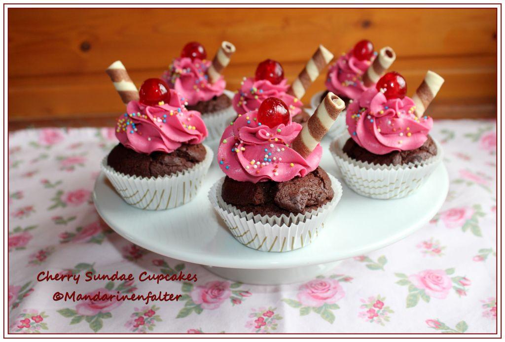 Cherry Sundae Cupcakes I