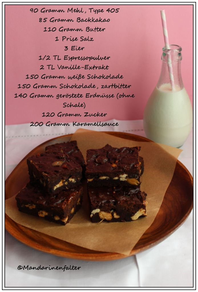 Triple Chocolate Karamell Brownies