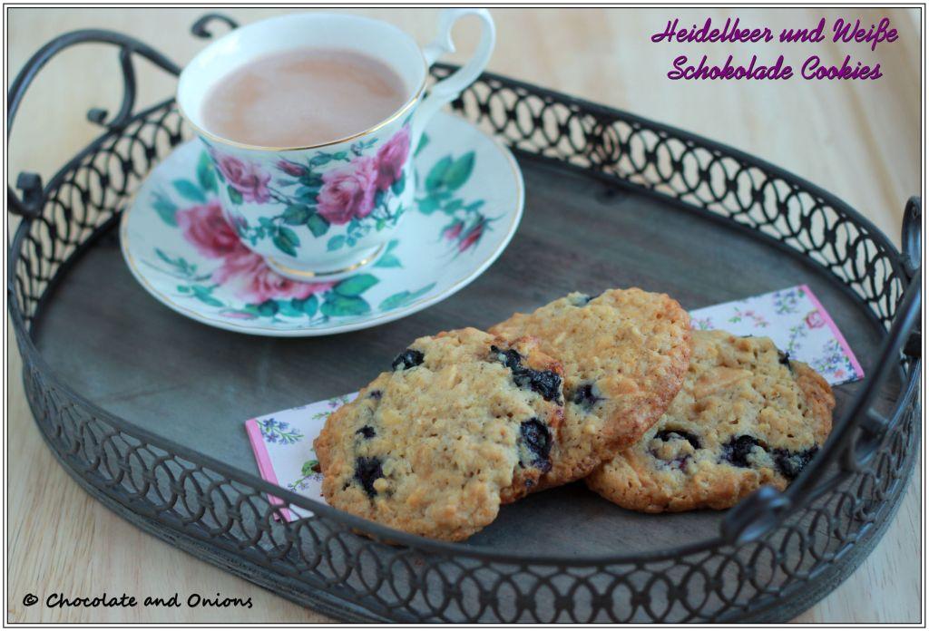 Heidelbeer und Weiße Schokolade Cookies