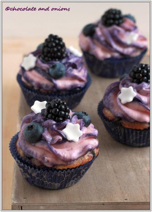 Blaubeer Cupcakes I
