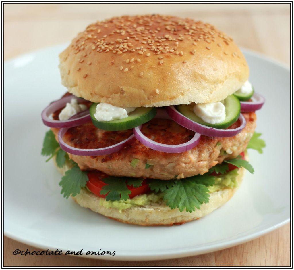 Asia Lachs Burger